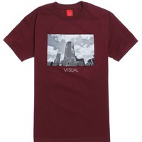 Visual by Van Styles Neutral T-Shirt - Mens Tee - Maroon