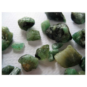 Emerald - Facet Grade Rough - Raw Emerald - Faceting Material