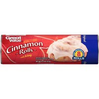 Great Value Cinnamon Rolls with Icing, 8 count, 12.4 oz - Walmart.com