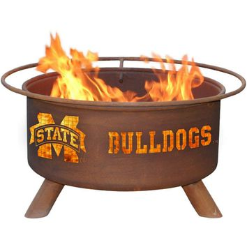 Mississippi State Steel Fire Pit by Patina Products