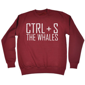123t USA CTRL + S The Whales Funny Sweatshirt