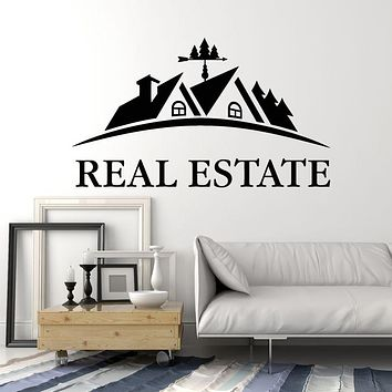 Vinyl Wall Decal House Real Estate Agency Realtor Decor Stickers Mural (g176)