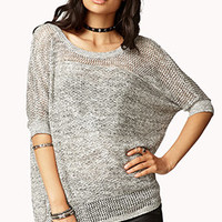 Open-Knit Dolman Sweater