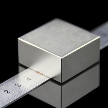 1PCS block 40x40x20mm Super Powerful Strong Rare Earth Block NdFeB Magnet Neodymium N52 Magnets - Free Shipping