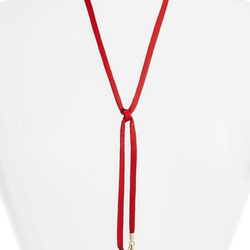 Vanessa Mooney Leather Bolo Necklace | Nordstrom