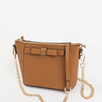 Colette Brown Bow Mini Purse