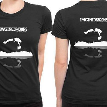 CREYH9S Imagine Dragons Continued Silence 2 Sided Womens T Shirt