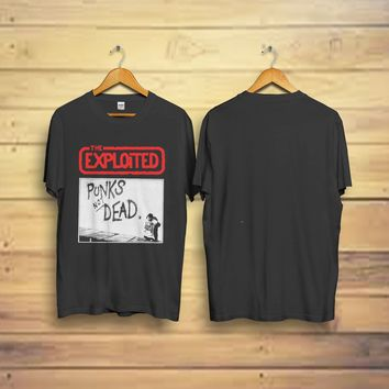 "THE EXPLOITED Men's ""Punks Not Dead"" Sid ViciousT Shirt reprint (S-3XL) 6 Colors"