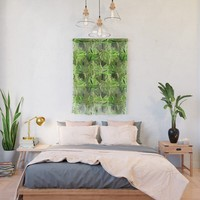 Tropical Greens Wall Hanging by gx9designs