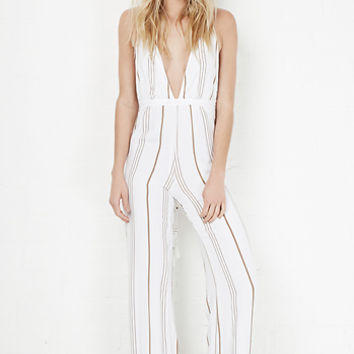 DailyLook: Faithfull The Brand Shutterbabe Jumpsuit in Taupe S