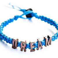 Dream Blue Hemp Bracelet Friendship Letters