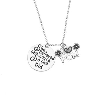 Pom Necklace, She Believed She Could So She Did