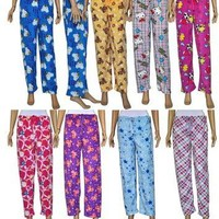 women's fleece pajama pants Case of 96