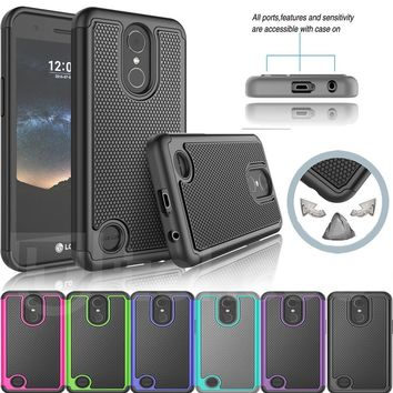LG-K20 V Case,K10 2017 Case,LG-K20 Plus Case,LG-LV5 Case,Heavy Duty Protection Hybrid Plastic Dual Layer Armor Defender Protecti