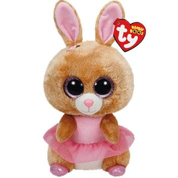 "Ty Beanie Boos Cute Animals Yellow Rabbit Plush Toy Doll Bunny With Tag 6"" 15cm"