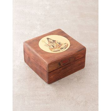 Radiant Shiva Wooden Box