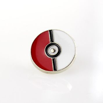 New Arrival Badge  Pokeball Cartoon Picture Brooch Pins Classic Japanese Anime Poker Cards Women Brooches Button JewelryKawaii Pokemon go  AT_89_9