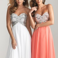 Night Moves 6613 Strapless Sequin Dress