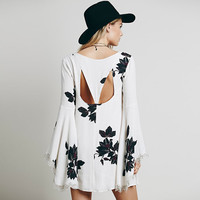 Kathy Lace Sleeve Floral Women Dress