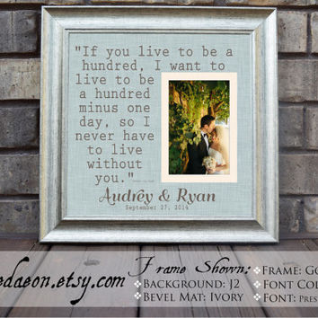Wedding gift frame - Personalized Wedding Gift Framed - personalized frame - Wedding frame - quote frame - 15x15