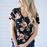 Romantic in Roses Floral Top
