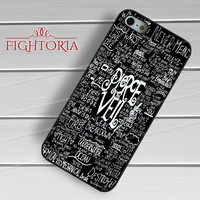 Pierce The Veil Lyric - zFzF for  iPhone 4/4S/5/5S/5C/6/6+s,Samsung S3/S4/S5/S6 Regular/S6 Edge,Samsung Note 3/4