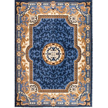5034 Blue Oriental Area Rugs