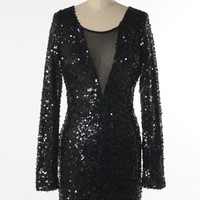 dazzling black party dress
