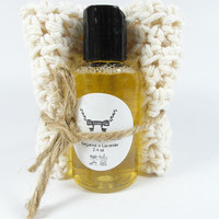 Liquid Soap and Facial Cloth Gift Idea Handmade