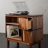 Walnut Record Player Stand