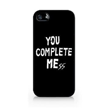 AIPC-445-You Complete Me - You Complete Mess -Iphone 4/4s, Iphone 5/5s hard plastic case