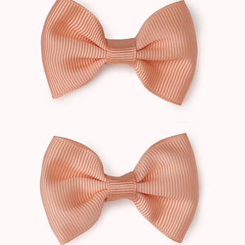 Textured Bow Hair Clips