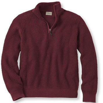 Men's Cotton/Cashmere Waffle Quarter-Zip Sweater | Now on sale at L.L.Bean