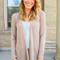 Walk in the Park Cardigan Taupe