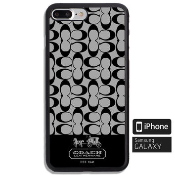 New Luxury Coach Logo Pattern Fit Case For iPhone 6 6+ 6s 6s+ 7 7+ 8 8+ X Cover