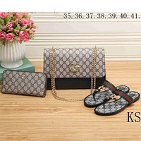 GUCCI 2018 high quality trend classic logo printing three-piece F-KSPJ-BBDL black
