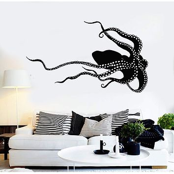 Vinyl Wall Decal Octopus Monster Sea Animals Poulpe Stickers Unique Gift (1019ig)