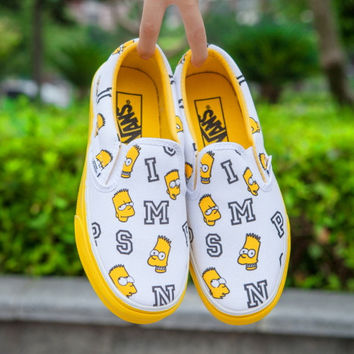 Trendsetter VANS X Peanuts Simpson Canvas Old Skool Flats Shoes Sneakers Sport Shoes