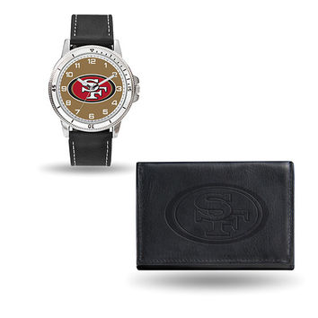 49ERS BLACK WATCH AND WALLET