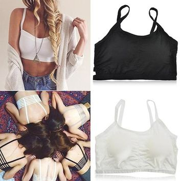 New Arrival Women's Sexy Bralette Caged Back Cut Out Strappy Padded Bra Bralet Vest Crop Top