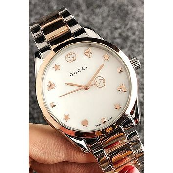 GUCCI street fashion men and women sports stainless steel watch