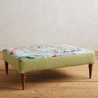 Shelley Hesse Paradise Found Crewelwork Ottoman in Multi Size: One Size Furniture