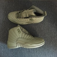 "Nike Air Jordan 12 ""Amy Green"" Men Basketball Sneaker Shoes"