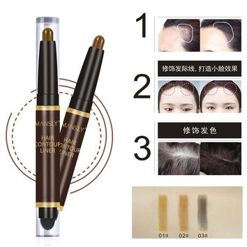New Makeup Hair Chalks for The Hair Make Up Contour Stick Hair Dye Crayons Styling Brown Temporary Paint Hair Contour Pen