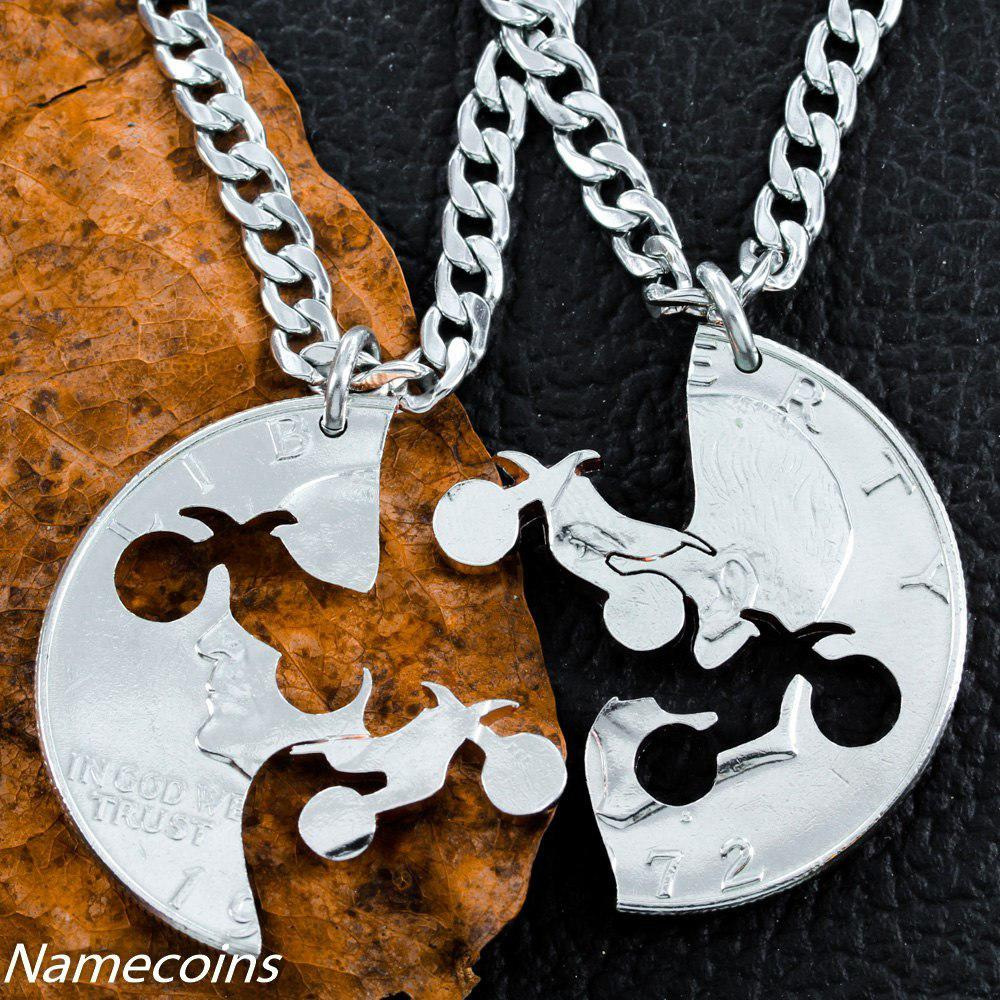 Dirt Bike Couples Necklaces, Motocross from NameCoins | fox