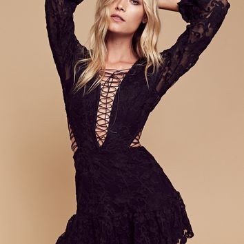 Free People Jolene Lace Up Dress