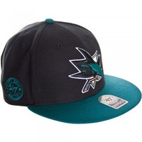 47 Brand 47 Brand San Jose Sharks cap black and teal - 47 Brand from Great Clothes UK