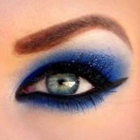 royal blue eyeshadow - Google Search