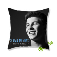 The Shawn Mendes Smile Square Pillow Cover