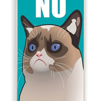 iPhone 4 Case - Rubber (TPU) Cover with Cactus the Cranky Cat Rubber Case Design